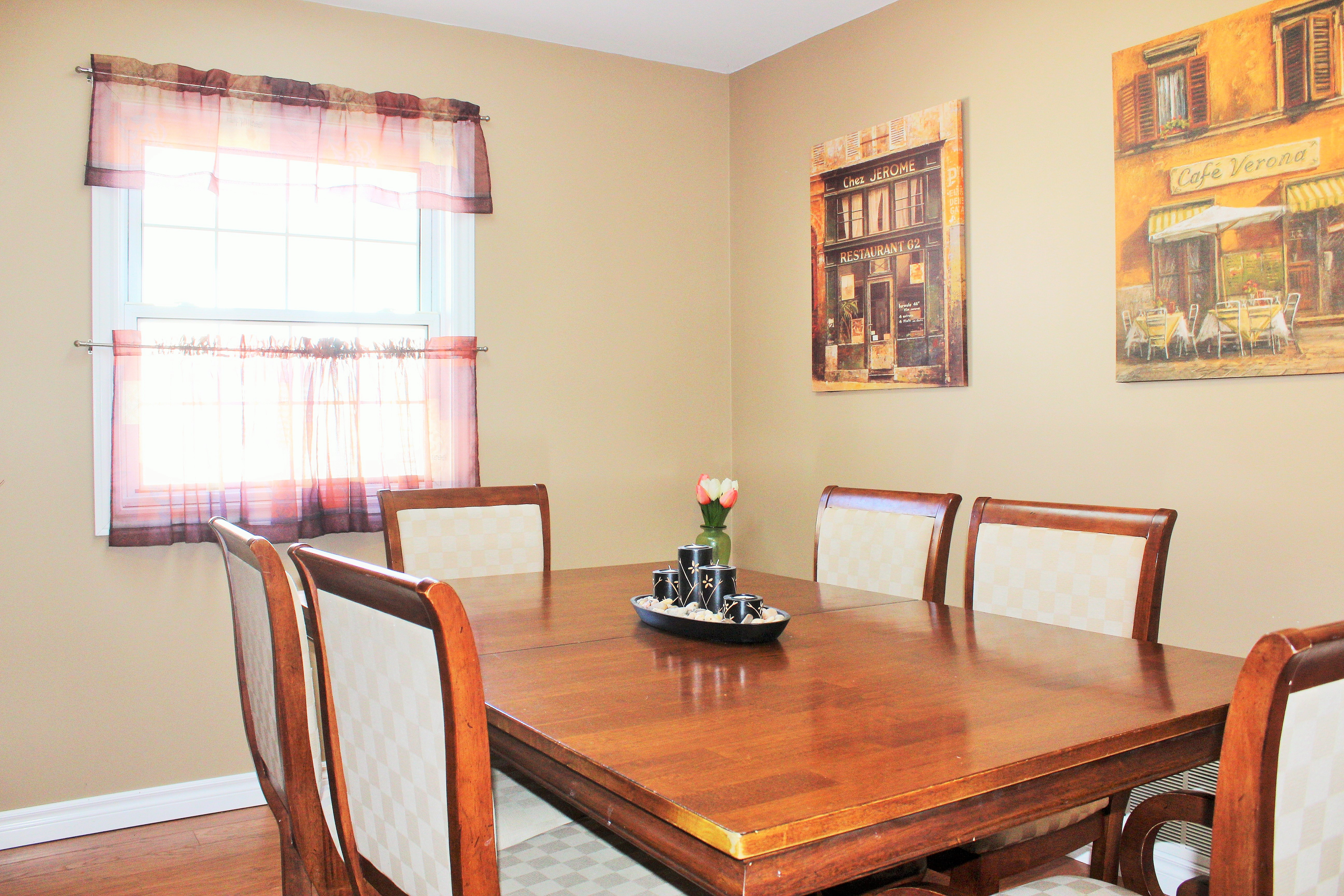 Zen By The Beach Dining Room - Crystal Beach Cottage Rentals