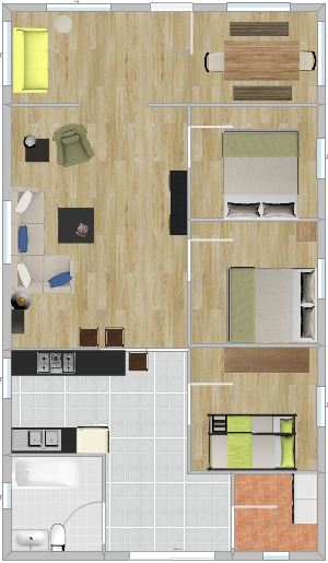 Cottage rentals - Crystal Beach Ontario - Beebalm Floor Layout