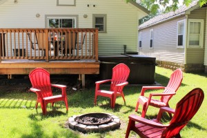 Crystal Beach Cottage Rental Management - Beebalm Cottage Fire Pit
